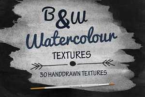 B&W Watercolour Texture Backgrounds