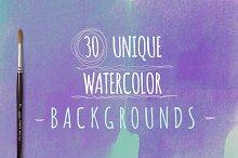 Watercolour Backgrounds (30)