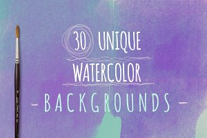 Watercolour Backgrounds (30)