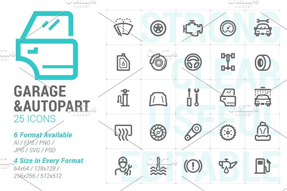 Garage Autopart Mini Icon