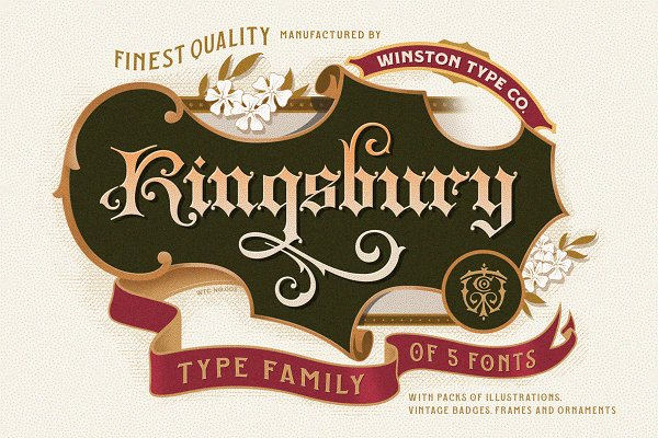 WT Kingsbury Font Bundle