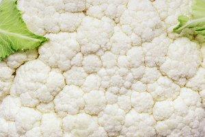 Fresh cauliflower texture