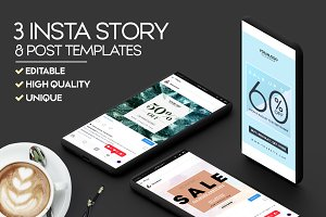 3 Insta Stories & Posts Templates