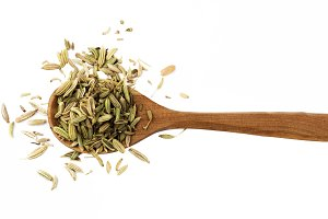 Fennel in Wooden Spoon