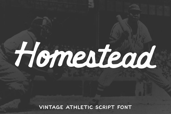 Homestead - Vintage Athletic Script
