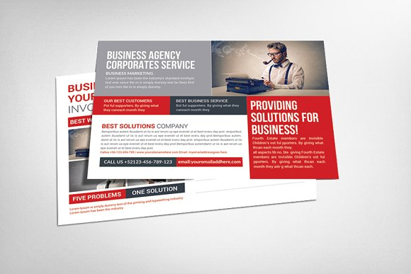 Corporate Business Agency Postcard