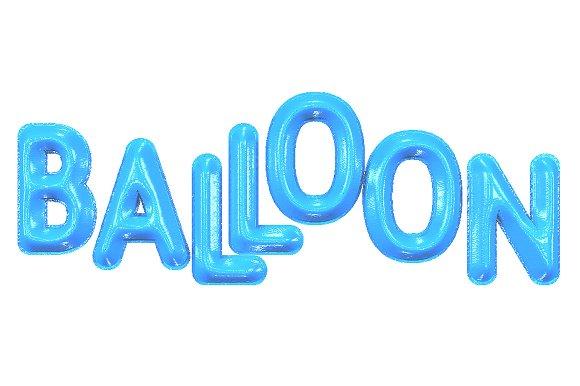 3D FONT BALLOON 3D PSD