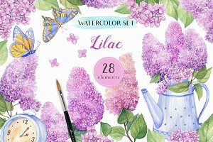 Watercolor Lilac