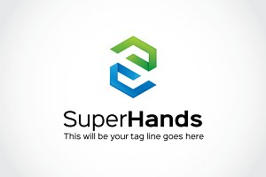 Super Hands Logo Template
