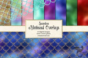 Seamless Mermaid Scale Overlays
