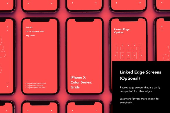 IPhone X Color Series Grids