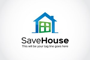 Save House Logo Template