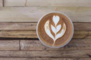 flower shaped pattern of coffee