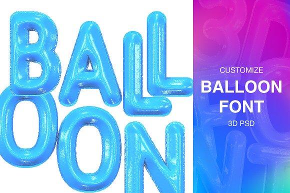 3d Font Balloon 3d Psd Symbol Fonts Creative Market