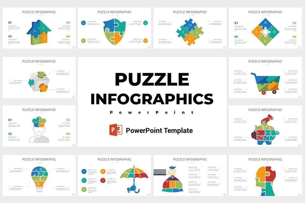 Puzzle Infographics Powerpoint Presentation Templates Creative