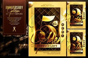 Golden Anniversary V2 Flyer Template