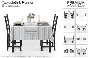 Tablecloth & Runner Mockup Set