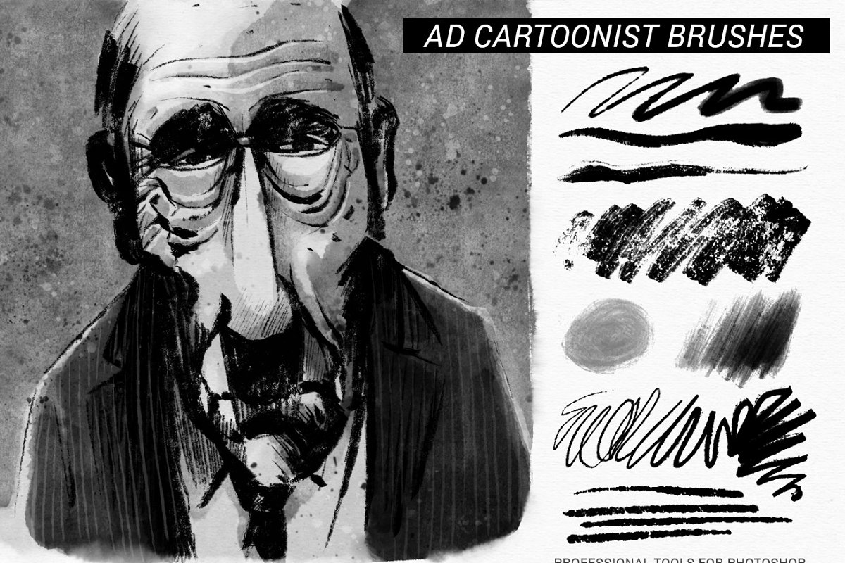 The Cartoonist Brushes ~ Photoshop Add-Ons ~ Creative Market