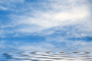 water and sky reflections background