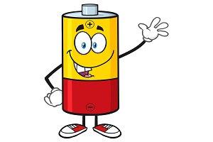 Cute Battery Cartoon Character