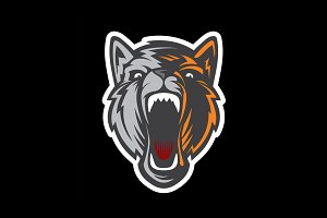 Wolf head logotype