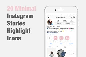 20 Instagram Stories Highlight Icons