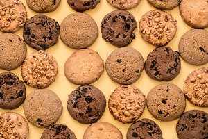 different kinds of homemade cookies