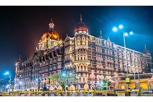 Taj Mahal Palace, a historic builging in Mumbai. Built in 1903