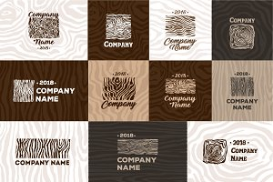 Wood and timber texture symbol logo