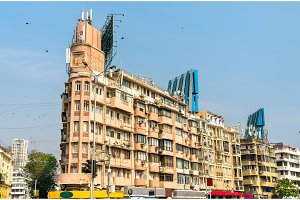 Historical buildings in Girgaon district in Southern Mumbai