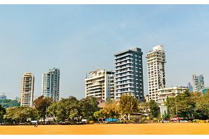 Mumbai skyline from Girgaon Chowpatty Beach