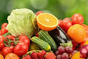 Natural vegetables and fruits