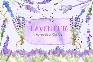 Lavender watercolor clip art