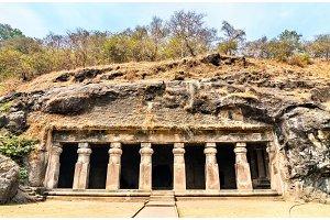 Cave no 3 on Elephanta Island near Mumbai, India