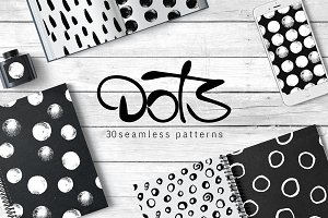 Just Dots. 30 Seamless Patterns