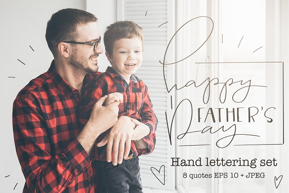Hand Lettering Set For Fathers Day