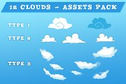 12 Clouds - Game Assets Pack