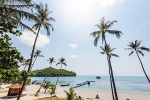 Sea and beach of Ko Wua Ta Lap