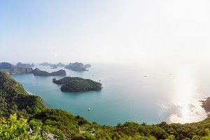 Panorama sunrise at Mu Ko Ang Thong