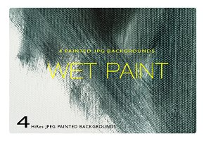 Wet Paint - 4 BKGD Image Bundle
