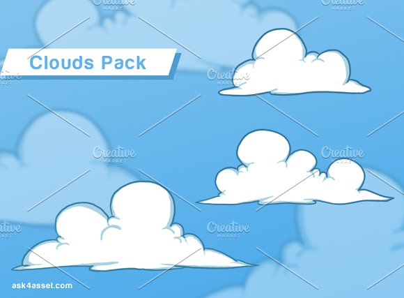 3 Clouds - Game Assets Pack