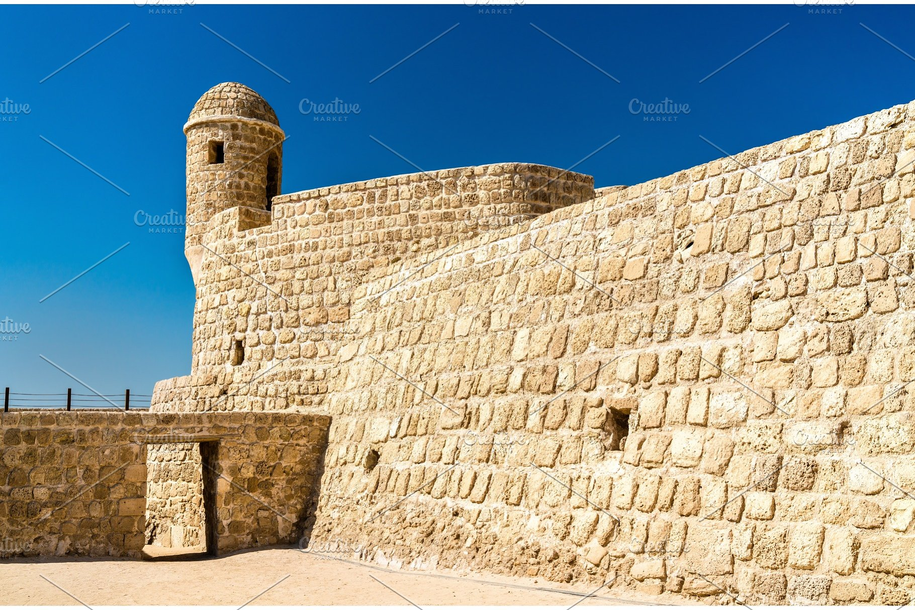 Watch Tower at Bahrain Fort  A UNESCO World Heritage Site