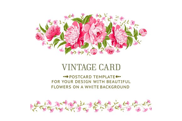 Luxurious vintage frame of peonies. in Illustrations