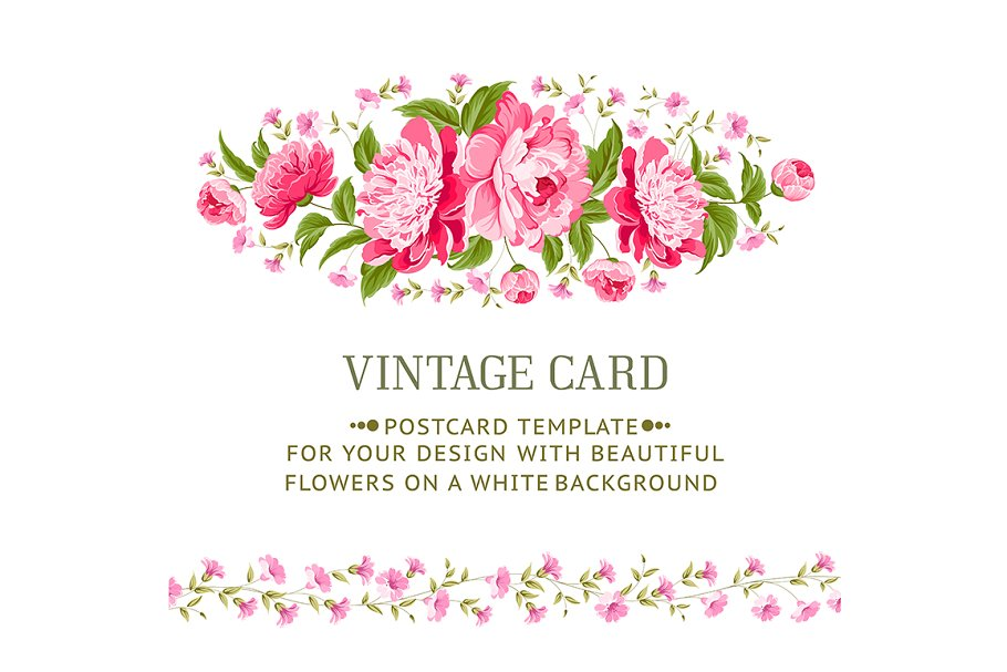 Luxurious vintage frame of peonies. in Illustrations - product preview 8
