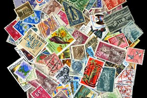 Stamps background