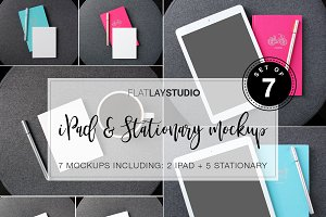 IPAD + STATIONARY MOCKUP #134