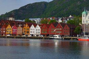 Hanseatic neighborhood in Norway