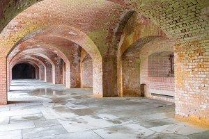 Empty corridors beneath Fort Point