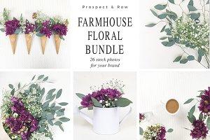 Farmhouse Floral Photo Bundle