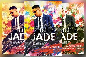 Colored DJ Flyer
